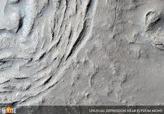 Unusual Depression Near Elysium Mons