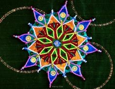 Mandala with Stitched Gears