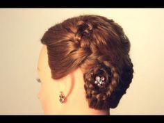 ▶ Прическа на средние волосы. Плетение кос. Hairstyle for every day - YouTube
