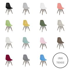 Mid Century Side Chair with Walnut Wood Legs Free Shipping This Mid-century Side Chair is a high-quality piece made from polypropylene with dark brown base legs. This contemporary piece features a dur