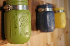 Brighter Days Wall Decor 3 pc painted mason jars by PineknobsAndCrickets, $39.00