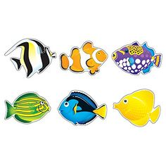 TREND enterprises, Inc. Fish Friends Classic Accents Variety Pack, 36 ct  #36ct #ArtsandCraftsSupplies #Inc. #Inc.FishFriendsClassicAccentsVarietyPack #TRENDenterprises