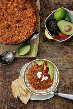 Alt-i-ett meksikansk gryte - Mat På Bordet Tex Mex, Nom Nom, Curry, Food And Drink, Soup, Healthy, Ethnic Recipes, Foods, Chili Con Carne