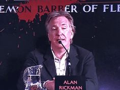 Alan at a press event for Sweeney Todd (2007)
