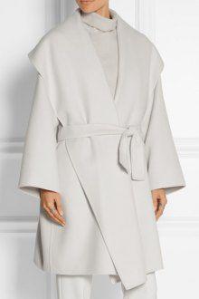 Large Lapel Self-Tie Belt Wrap Coat