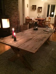 Picture of Table Made Out Of A 100 Year Old Door
