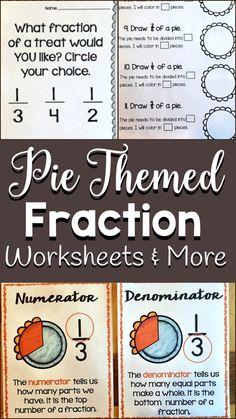Fractions worksheets, Fractions and Worksheets on Pinterest