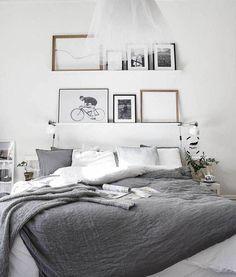 6 Jolting Diy Ideas: Minimalist Bedroom College Apartment Therapy cozy minimalist home interior design.Minimalist Bedroom Closet Storage minimalist home tips posts.Cozy Minimalist Home Interior Design. White Bedroom Decor, Gray Bedroom, Home Decor Bedroom, Bedroom Wall, Bedroom Ideas, Master Bedroom, Bedroom Interiors, White Interiors, Design Bedroom