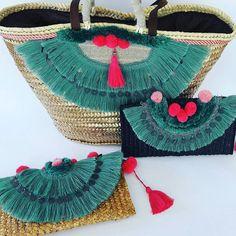 Jute Bags, Beach Accessories, Summer Bags, Fashion Sewing, Knitted Bags, Hippie Boho, Bohemian, My Bags, Straw Bag