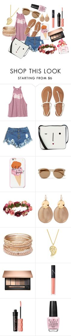 """""""summer??"""" by snowboarder17 ❤ liked on Polyvore featuring RVCA, Aéropostale, Lulu Guinness, Kate Spade, Yves Saint Laurent, Forever 21, Alexis Bittar, Red Camel, Sonal Bhaskaran and NARS Cosmetics"""