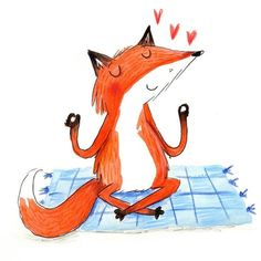 Meditating fox from this morning...happy weekend!