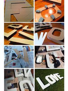 Cómo decorar letras de cartón