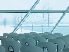 Milwaukee Art Museum, a Calatrava project, with 400 Globus chairs from the STUA design collection.