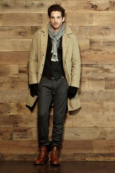 if the coat were in charcoal, I could see this on the boy.. perfect for cold winters & that's the same as the scarf I got him!