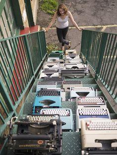 keira rathbone typewriter art work