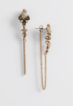 earrings with rhinestones and peek-a-boo chains (original price, $10.50) available at #Maurices