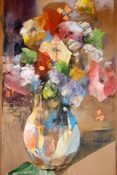 "Saatchi Online Artist: Susana Llobet; Paper, 2011, Assemblage / Collage ""Spring flowers"" Fun with flowers!"