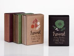 HARVEST FINE TEA great packaging from Darling Clementine