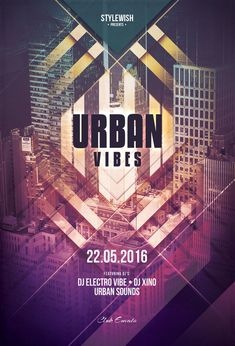 Urban Vibe Flyer Template by styleWish (Buy PSD file $9)