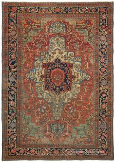 A succulent palette of luscious, naturally dyed hues, including a rare profusion of apple green, sets this antique Persian Ferahan Sarouk carpet aglow. A perennial favorite among our clients, Ferahan Sarouks have long been admired for their stylistic innovations upon a classic theme. This distinctive, sublimely hued antique Oriental carpet is in excellent heavier pile condition.