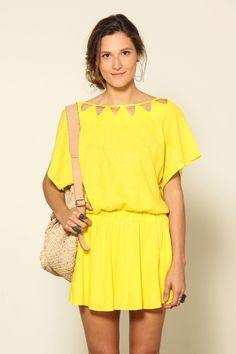 vestido vazado triangulo - Farm Rio