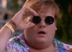 snl saturday night live 1990s sunglasses looking chris farley inspect better look #humor #hilarious #funny #lol #rofl #lmao #memes #cute