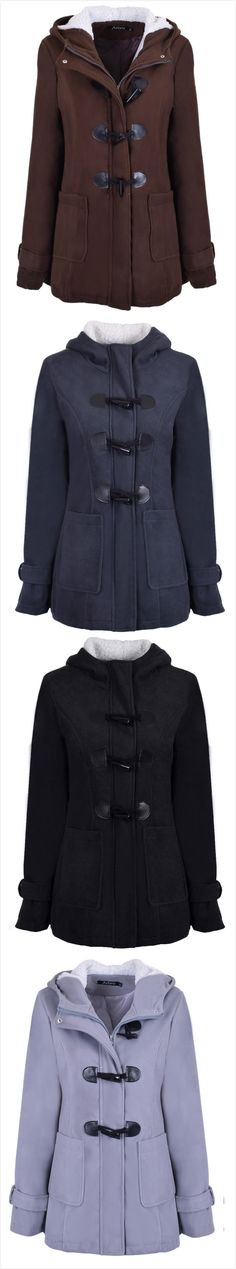 feeea88d2 Fashion Horn Button Fleece Coat Mori Girl Fashion, Clothing Styles, Winter  Wardrobe, Rainy