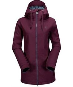 Volcom Magnum Ins Snowboard Jacket Burgundy - Womens 2015