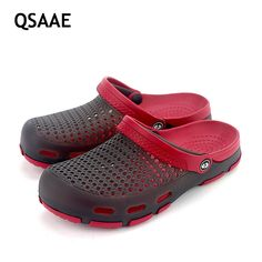 2017 New women sandals hole slippers couple sandals mules and clogs garden shoes for unisex breathable beach shoes 36-45 AF48 #Affiliate