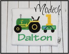 Inspired John Deere Theme Green and Yellow by SoModish on Etsy, $26.00