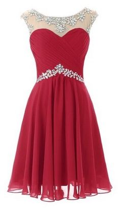 Red Flowing Prom Dresses Short