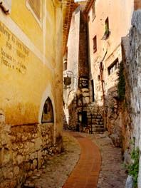 The cobble stone streets of Eze, France