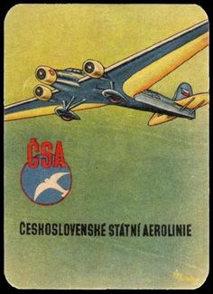 Czechoslovakia airline timetable Vintage Paper, Vintage Ads, Vintage Airline, Air Company, European Airlines, Matchbox Art, Retro Ads, Travel Design, Advertising Poster