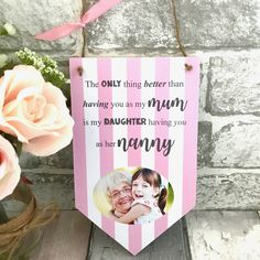 Gifts for Nanny Nanny Gifts, Auntie Gifts, Gifts For Mum, Mother Gifts, Mothers, Grandparents Day Gifts, Grandparent Gifts, Personalized Plaques, Photo Tiles