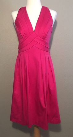 Calvin Klein Pink Sleeveless Fit and Flare Pleated Skirt Dress Size 4 | Clothing, Shoes & Accessories, Women's Clothing, Dresses | eBay!