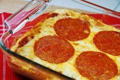 Cauliflower Pepperoni Pizza Casserole Recipe