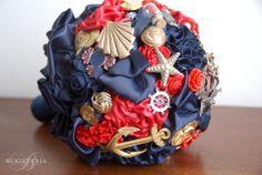 Marine fabric flower bouquet   Bukieteria