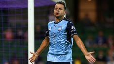 Bobo scores a double to give him 24 goals, one behind Bruno Fornaroli's 2015-16 records, in Sydney FC's 2-3 defeat over Perth Glory handing the Sky Blues the Premiers Plate for the second consecutive season.  30.03.18