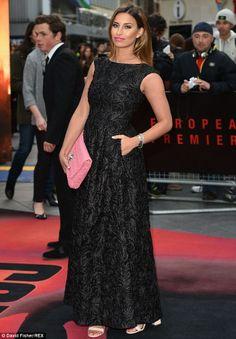 Ferne McCann looks elegant in patterned dress at Godzilla premiere #dailymail