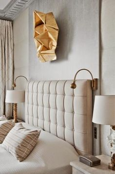 {Stroke of Luxe}: Still Crushing || Jean-Louis Deniot----NOTE: the faux wall behind bed to conceal the electrical cords - rfm