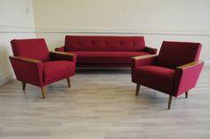 Mid Century Day Bed Sofa & 2 Arm Chairs Vintage Retro 50s 60s 70s Danish Deco | eBay