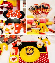 Minnie Mouse themed birthday party via Kara's Party Ideas KarasPartyIdeas.com Party decor, printables, favors, cakes, games, and more! #minn...