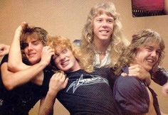 metallica youngs <3 This is really old since Cliff and even Dave were still there.