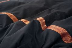 A black cotton duvet cover from India with a rich, gold and red embroidered border. Exclusive to Natural Bed Company. Peacock Blue Bedroom, Bedroom Black, Black Bedrooms, Japanese Style Bedroom, Japanese Bed, Bed Company, Fantasy Bedroom, Bedroom Design Inspiration, Black Duvet Cover