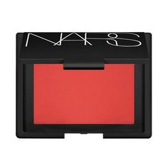 NARS Cosmetics Blush in Exhibit A. Even though this is quite orangey in the compact, it shows up as a lovely red-rosey colour on my cheeks.