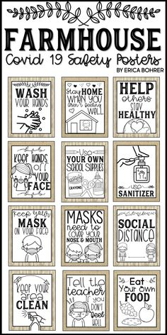 Covid 19 Classroom Safety Posters Included:  Don't Touch Your Face / Keep Your Hands off Your Face Wash Your Hands Use Sanitizer Keep Your Mask on Your Face Masks Need to Cover Your Nose and Mouth Social Distance Tell the Teacher if You Don't Feel Well Keep Your Area Clean Eat Your Own Food / Don't Share Food Don't Share School Supplies / Use Your Own School Supplies Stay Home When You Aren't Feeling Well Help Others Stay Healthy
