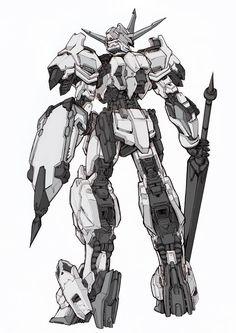Robot Concept Art, Robot Art, Gundam Tutorial, Gundam Iron Blooded Orphans, Gundam Wallpapers, Gundam Custom Build, Cool Robots, Sci Fi Armor, Gundam Art