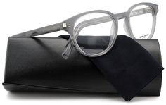 2fe2ea87b200 Saint Laurent Classic 10 Eyeglasses Grey Blue w Demo Lenses (003) 48mm  Authentic
