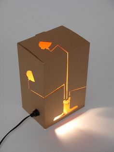 Completely unique laser cut box light!