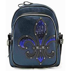 Miss Me Navy Fleur De Lis Sequin Backpack  HB255BP1  f943a59f4632d